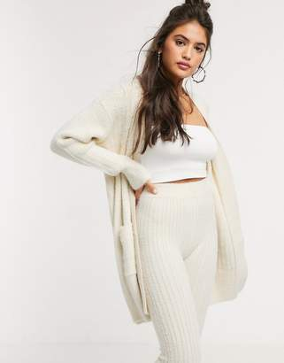 Asos Design DESIGN co-ord maxi cardigan in fluffy rib