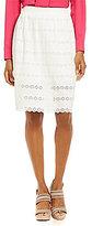 Daniel Cremieux Avi A-line Shirring Eyelet Skirt