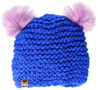 Obermeyer Glen Faux Fur Pom-Pom Beanie (Little Kids/Big Kids) (Blue Vibes) Beanies