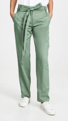 Tibi Slouch Front Tie Cargo Pants