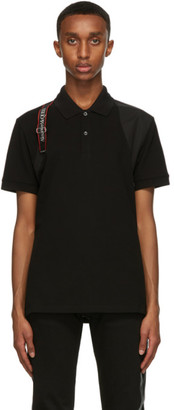 Alexander McQueen Black Logo Harness Polo