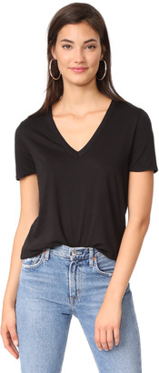 Veronica Beard Jeans Cindy V Neck High Low Tee