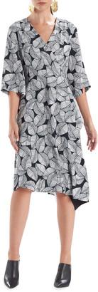 Natori Leaves of Paradise Wrap Dress