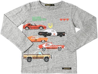 Finger In The Nose Cars Print Cotton Jersey T-Shirt