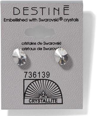 Crystallite 931 Crystal Oval Rivoli Earrings