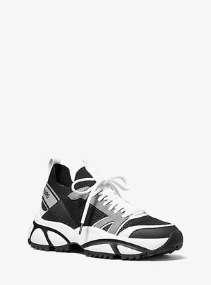 Michael Kors Lucas Knit Trainer - Black/grey