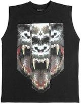 Marcelo Burlon County of Milan Gorilla Cotton Jersey Sleeveless T-Shirt