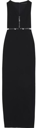 Alexander Wang Cutout Pvc-trimmed Stretch-cady Gown