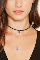 Forever 21 Faux Stone Choker Necklace Set