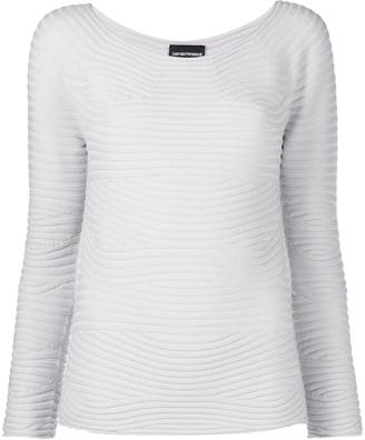 Emporio Armani Retro-Ribbed Sweater