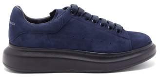 Alexander McQueen Raised-sole Suede Trainers - Mens - Blue