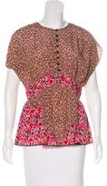 Anna Sui Short Sleeve Printed Top