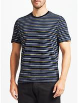 John Lewis Stripe Cotton T-Shirt, Navy