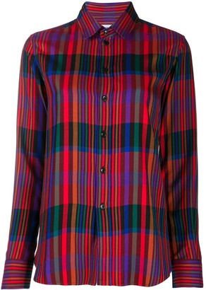 Saint Laurent Tartan Check Buttoned Shirt