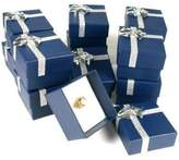 FindingKing 12 Blue Bow Tie Ring Gift Boxes Jewelry Displays