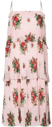 Ganni Cher pleated midi dress