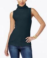 MICHAEL Michael Kors Sleeveless Ribbed Turtleneck Sweater