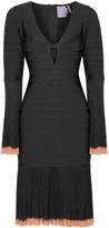 Herve Leger Rinnaa Paneled Bandage Dress - Black