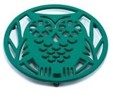 ODI HOUSEWARES Emerald Green Wise Owl Trivet