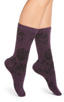 Natori &Monotones& Floral Crew Socks