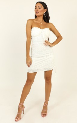 Showpo Take The Hint dress in white - 6 (XS) The White Edit