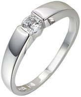 Acme Sterling Silver Princess Cut Crystals Accent Love Forever Eternity Engagement Wedding Ring For Men