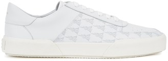 Amiri White monogrammed leather sneakers