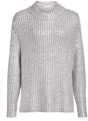 See by Chloe Metallic Long-Sleeve Knit Sweater