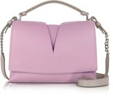 Jil Sander View Handle Small Knitted Leather Shoulder Bag