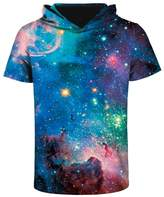 Haloon XXXL Lifelike Explosion 3D Printed Short Sleeve T Shirts Hoodie Top for Men