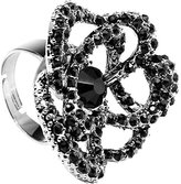 Body Candy Midnight Flower Adjustable Ring