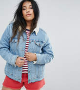 Levi's Plus Levis Plus Trucker Jacket With Borg Collar