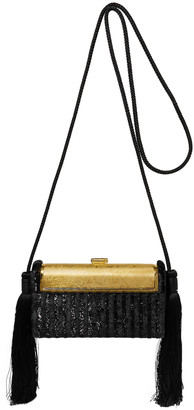 BIENEN-DAVIS Bienen Davis Regine Tasseled Lurex And Gold-dipped Shoulder Bag
