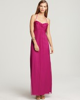 Amsale Ruffle Front Gown