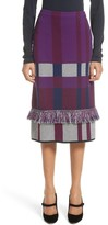 St. John Women's Plaid Jacquard Knit Skirt