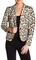Nine West Printed Notch Collar Jacket