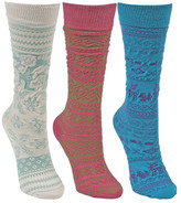 Muk Luks Microfiber Knee High Socks - Pack of 3 (Little Girls & Big Girls)