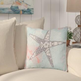 "Highland Dunes Chaucer Sweet Starfish Outdoor Throw Pillow Highland Dunes Size: 26"" H x 26"" W x 4"" D"