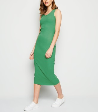 New Look Ribbed Bodycon Midi Dress