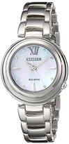 Citizen Eco-Drive Women's EM0330-55D L Sunrise Analog Display Silver Watch