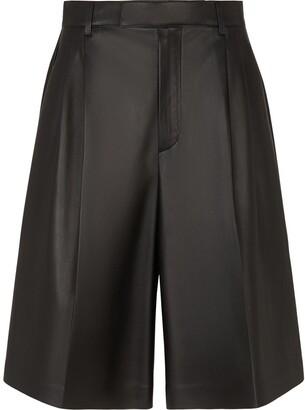 Fendi Pleated High-Waisted Shorts