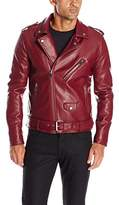 GUESS Men's Asymmetrical Faux Leather Jacket