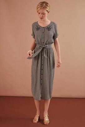 Des Petits Hauts Ecru Grey Rosmerta Dress - 0