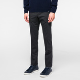 Paul Smith Men's Slim-Fit Charcoal Grey Puppytooth Stretch-Wool Trousers