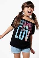 boohoo Girls Summer Of Love Bardot Top black