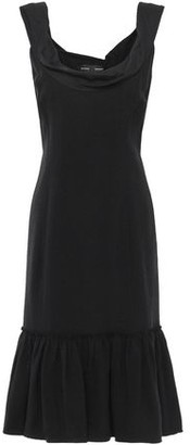 Proenza Schouler Draped Cotton Poplin-paneled Crepe Dress