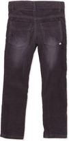 Petit Lem Skinny Thin-Wale Corduroy Pants, Black, 4-6X