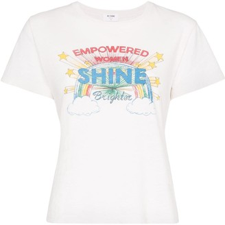 RE/DONE Shine graphic print T-shirt