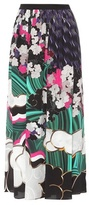 Mary Katrantzou Santhus printed silk midi skirt