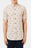 Topman Print Short Sleeve Shirt